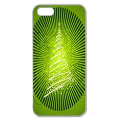 Vector Chirstmas Tree Design Apple Seamless iPhone 5 Case (Clear)