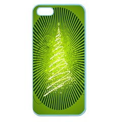 Vector Chirstmas Tree Design Apple Seamless iPhone 5 Case (Color)