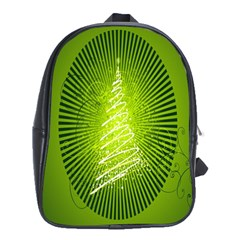 Vector Chirstmas Tree Design School Bags (xl)