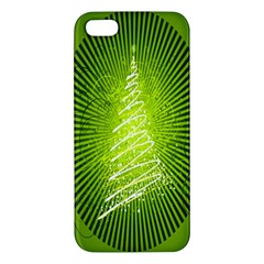 Vector Chirstmas Tree Design Apple Iphone 5 Premium Hardshell Case