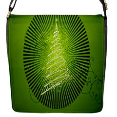 Vector Chirstmas Tree Design Flap Messenger Bag (S)