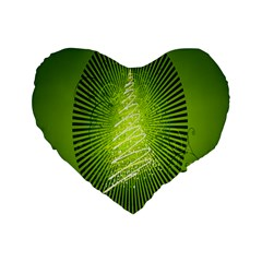 Vector Chirstmas Tree Design Standard 16  Premium Flano Heart Shape Cushions