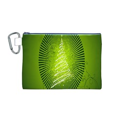 Vector Chirstmas Tree Design Canvas Cosmetic Bag (M)
