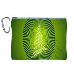 Vector Chirstmas Tree Design Canvas Cosmetic Bag (xl)
