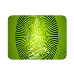 Vector Chirstmas Tree Design Double Sided Flano Blanket (Mini)