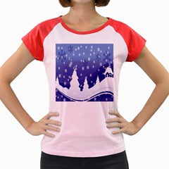 Vector Christmas Design Women s Cap Sleeve T-Shirt
