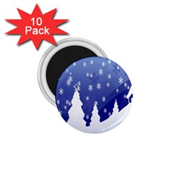 Vector Christmas Design 1.75  Magnets (10 pack)