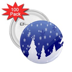 Vector Christmas Design 2 25  Buttons (100 Pack)