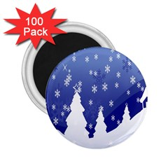 Vector Christmas Design 2 25  Magnets (100 Pack)
