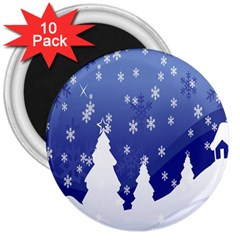 Vector Christmas Design 3  Magnets (10 Pack)