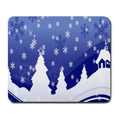 Vector Christmas Design Large Mousepads