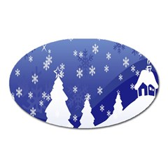 Vector Christmas Design Oval Magnet