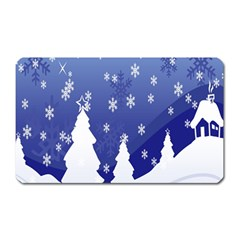 Vector Christmas Design Magnet (rectangular)
