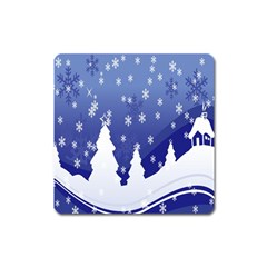 Vector Christmas Design Square Magnet