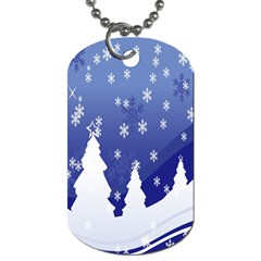 Vector Christmas Design Dog Tag (Two Sides)