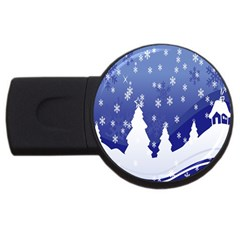 Vector Christmas Design USB Flash Drive Round (2 GB)