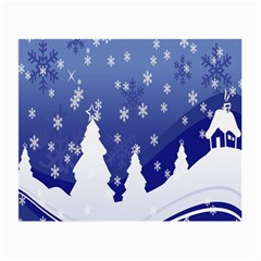 Vector Christmas Design Small Glasses Cloth