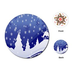 Vector Christmas Design Playing Cards (round)