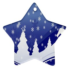 Vector Christmas Design Star Ornament (two Sides)