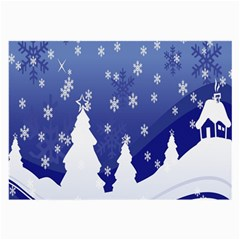 Vector Christmas Design Large Glasses Cloth