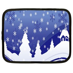 Vector Christmas Design Netbook Case (Large)
