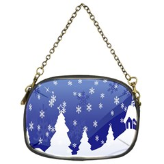 Vector Christmas Design Chain Purses (one Side)
