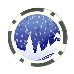 Vector Christmas Design Poker Chip Card Guard (10 pack)