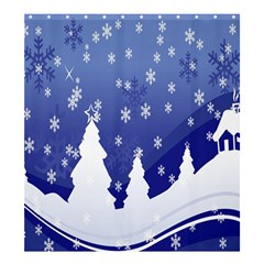 Vector Christmas Design Shower Curtain 66  x 72  (Large)