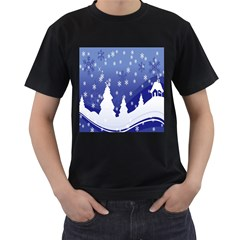 Vector Christmas Design Men s T Shirt (black)