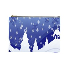 Vector Christmas Design Cosmetic Bag (Large)