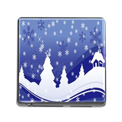 Vector Christmas Design Memory Card Reader (Square)