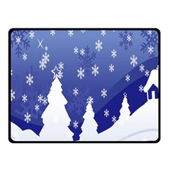 Vector Christmas Design Fleece Blanket (Small)