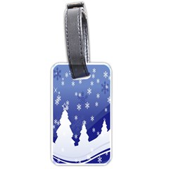 Vector Christmas Design Luggage Tags (two Sides)