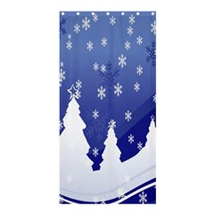 Vector Christmas Design Shower Curtain 36  x 72  (Stall)