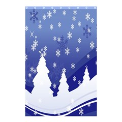 Vector Christmas Design Shower Curtain 48  x 72  (Small)