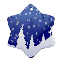 Vector Christmas Design Snowflake Ornament (two Sides)