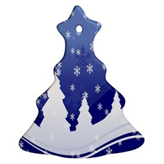 Vector Christmas Design Christmas Tree Ornament (Two Sides)