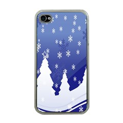 Vector Christmas Design Apple Iphone 4 Case (clear)