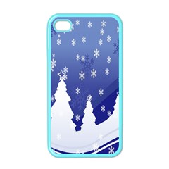 Vector Christmas Design Apple Iphone 4 Case (color)