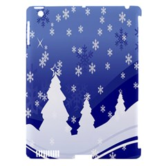 Vector Christmas Design Apple Ipad 3/4 Hardshell Case (compatible With Smart Cover)