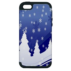 Vector Christmas Design Apple iPhone 5 Hardshell Case (PC+Silicone)