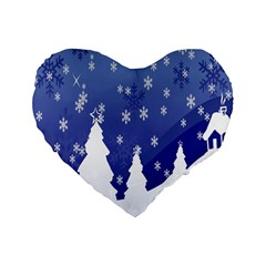Vector Christmas Design Standard 16  Premium Heart Shape Cushions