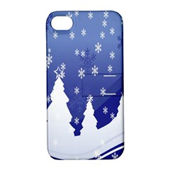 Vector Christmas Design Apple Iphone 4/4s Hardshell Case With Stand