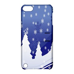Vector Christmas Design Apple iPod Touch 5 Hardshell Case with Stand