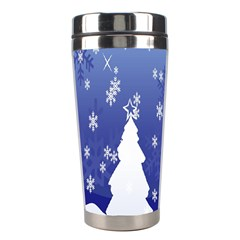 Vector Christmas Design Stainless Steel Travel Tumblers