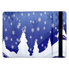 Vector Christmas Design Samsung Galaxy Tab Pro 12 2  Flip Case