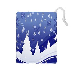 Vector Christmas Design Drawstring Pouches (large)