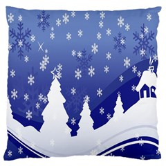 Vector Christmas Design Large Flano Cushion Case (two Sides)