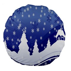 Vector Christmas Design Large 18  Premium Flano Round Cushions
