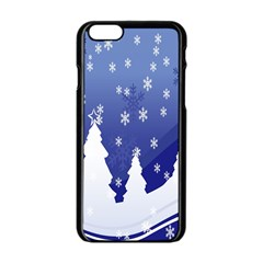 Vector Christmas Design Apple Iphone 6/6s Black Enamel Case